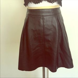BLACK FAUX LEATHER SKIRT  (LAST PRICE DROP)